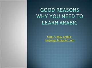 Reasons Why Learn Arabic Language