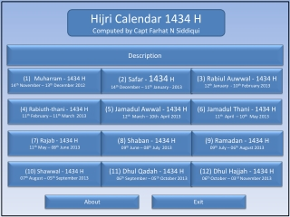Hijra calendar 1434