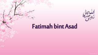 Fatimah bint Asad