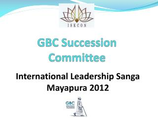 GBC Succession Committee