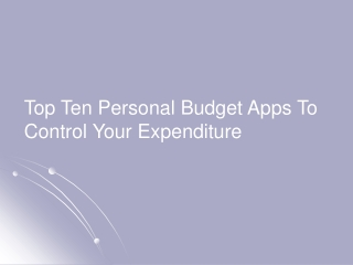 Top 10 Personal Budget Apps For Everyone