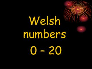 Welsh numbers