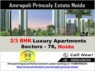 Amrapali Princely Estate New Projects upcoming Noida Sector