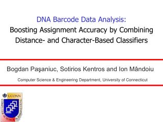 DNA Barcode Data Analysis: Boosting Assignment Accuracy by Combining Distance- and Character-Based Classifiers