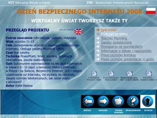 VCT Wirtualna Wizyta w Klasie                      ITN - Spolecznosc Innowacyjnych Nauczycieli
