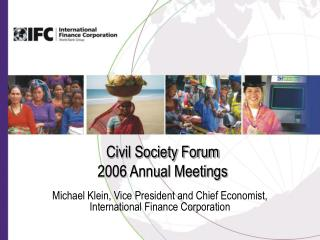 Civil Society Forum 2006 Annual Meetings