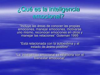 Qu  es la inteligencia emocional