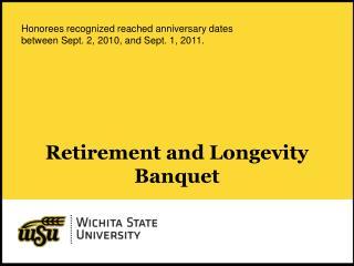 Retirement and Longevity Banquet