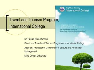 Travel and Tourism Program, International College