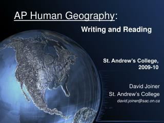 AP Human Geography: