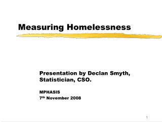 Measuring Homelessness