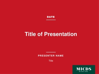 Key message for presentation