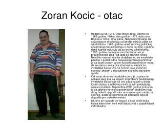 Zoran Kocic - otac