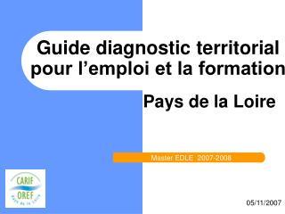 Guide diagnostic territorial pour l emploi et la formation
