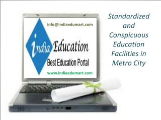 Standardized and Conspicuous Education Facilities