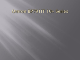 Omron Blood Pressure Monitors