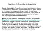 Play Bingo At Texas Charity Bingo Halls