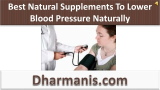 Best Natural Supplements To Lower Blood Pressure Naturally