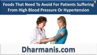 Foods That Need To Avoid For Patients Suffering From High BP