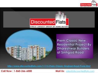 Brand New 2 & 3BHK Flats at Sinhgad road - Prem Classic