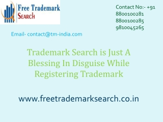 Trademark Search is Just A Blessing In Disguise
