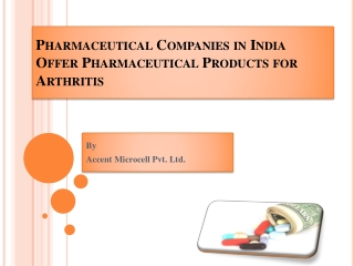 Pharmaceutical Companies in India Offer Pharmaceutical Produ