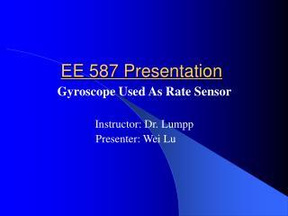 EE 587 Presentation