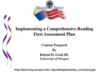 Implementing a Comprehensive Reading First Assessment Plan