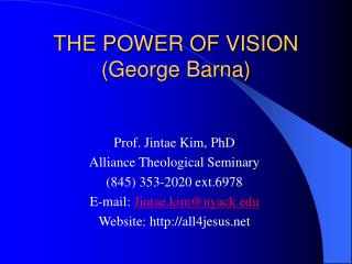 THE POWER OF VISION George Barna