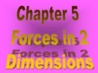 Chapter 5  Forces in 2 Dimensions