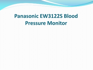 Panasonic EW3122S Blood Pressure Monitor