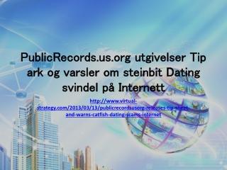 PublicRecords.us.org utgivelser Tip ark og varsler om