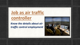 Job as air traffic controller
