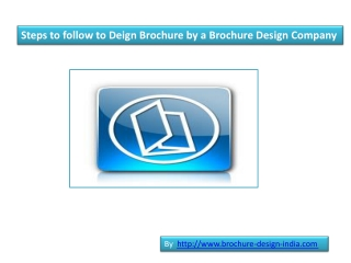 Guidelines to Design Brochure