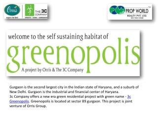 3c Greenopolis|9910007460|3c Greenopolis Gurgaon|3c Greenopo