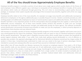 All of the You should know Approximately Employee Benefits
