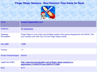 Finger Slayer Seasons - Best Reaction Time Game for Nook