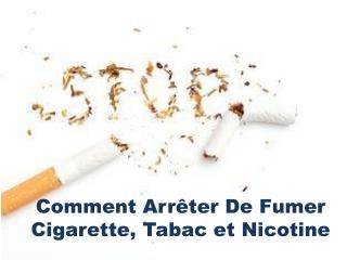 Arreter de Fumer Est Bon Pour Sante
