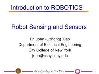 Robot Sensing and Sensors
