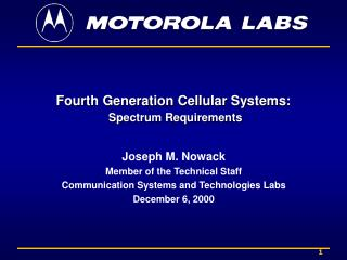 Fourth Generation Cellular Systems: