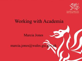 Working with Academia