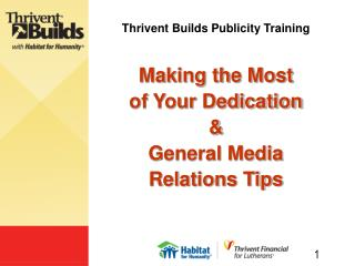 Thrivent Builds Publicity Training