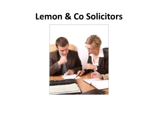 Lemon & Co Solicitors