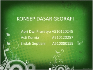 KD IPS - Konsep dasar geografi power point