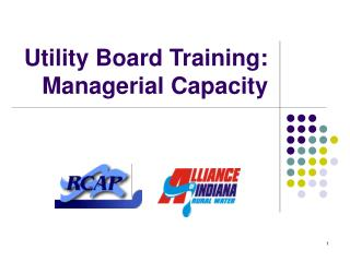 Utility Board Training: Managerial Capacity