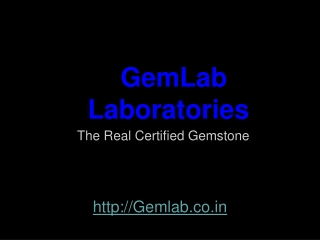 GemLab The Real Certified Gemstone Natural Gemstone