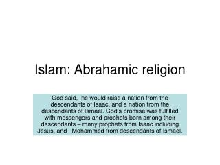 Islam: Abrahamic religion