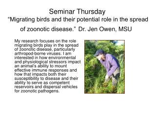 Seminar Thursday