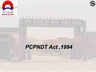 PCPNDT Act ,1994