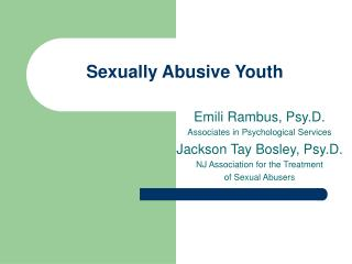 Sexually Abusive Youth